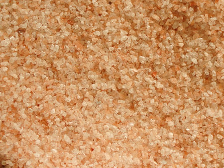 salt crystal: Himalaya Pink Salt - crystal pink prisms useful as a background Stock Photo