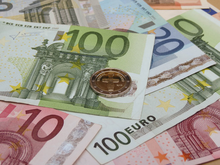 eur: Euro (EUR) banknotes and coins from Cyprus