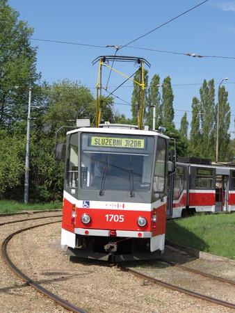tramway: BRNO, CZECH REPUBLIC - CIRCA MAY 2012: Tramway train for public transport mass transit