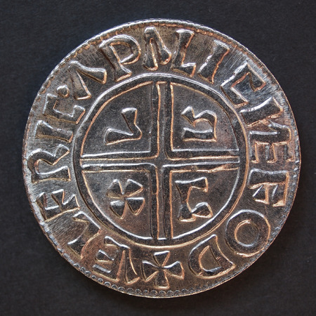 hoard: Viking coin replica based on archaeological findings Stock Photo