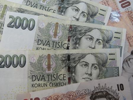 legal tender: Czech korunas CZK legal tender of the Czech Republic banknotes