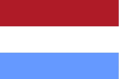 luxembourg: Luxembourg flag - isolated vector illustration Stock Photo