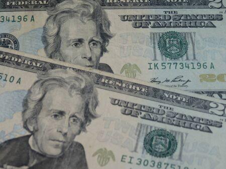 twenty: twenty dollar bill useful as money concept Stock Photo