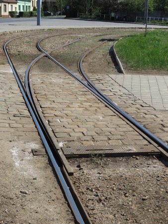Tramway rails for public transport mass transit