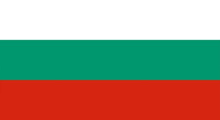 bulgarian: Bulgarian flag and language icon - isolated vector illustration Stock Photo