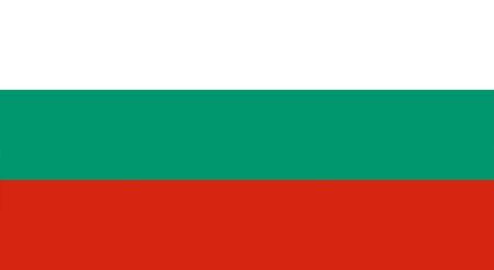 drapeau et icône de langue bulgare - isolé illustration vectorielle