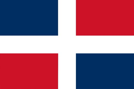 simplified: Simplified flag of the Dominican Republic North America - isolated vector illustration