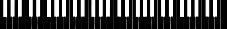octave: harpsichord keyboard silhouette, five octave extension from F to F - isolated vector illustration