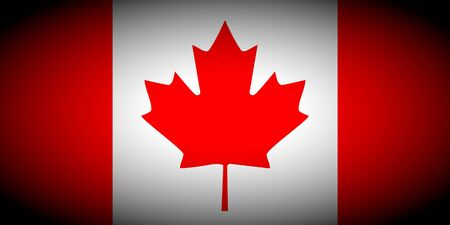 vignetted: Canada flag icon - isolated illustration vignetted Stock Photo