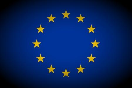 vignetted: European Union flag - isolated illustration vignetted