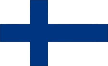 finland: Finland flag and language icon - isolated illustration