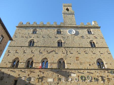 priori: Volterra, Italian medieval town - view of the city centre - Palazzo dei Priori Editorial