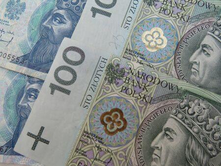 zloty: Polish zloty (PLN) currency - banknotes from Poland