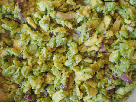 is based: Guacamole avocado based dip created by the Aztecs in Mexico