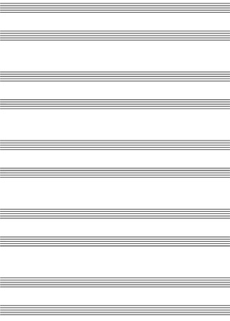musical score: Piano or keyboard score blank for writing music - isolated vector illustration
