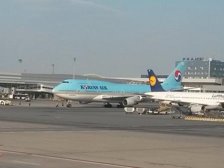 jumbo: PRAGUE, CZECH REPUBLIC - CIRCA JULY 2014: Boeing 747 Jumbo of the Korean Air airlines