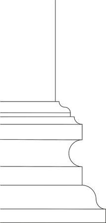 baroque: baroque column base scheme