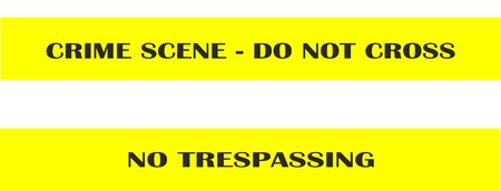 trespassing: Crime scene - do not cross - no trespassing - seamless tape band isolated vector illustration