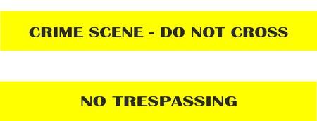 no trespassing: Crime scene - do not cross - no trespassing - seamless tape band isolated vector illustration