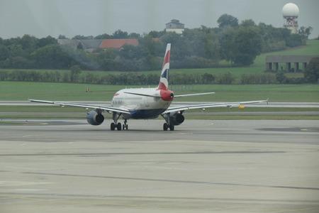 airways: VIENNA SCHWECHAT, AUSTRIA - CIRCA OCTOBER 2015: Airbus 319-100 aircraft of the British Airways at the airport.