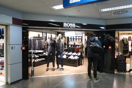 hugo: LINATE, ITALY - CIRCA JANUARY 2016: Hugo Boss brand store at the airport of Milano Linate