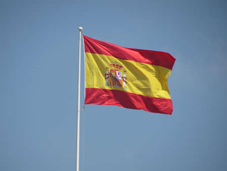 monarchy: Spanish flag from Spain floating in the air