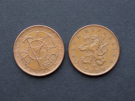 czech republic coin: 10 Czech korunas (CZK) coins - year 2000 special emission and ordinary coin