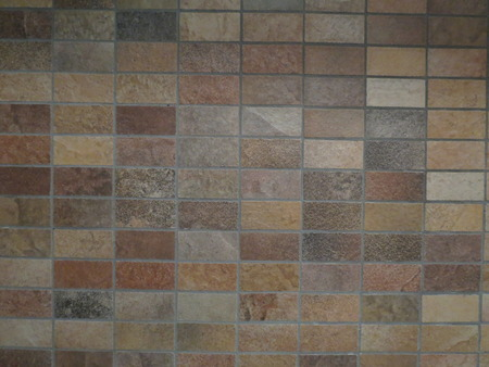 rough diamond: Beige and brown wall tiles