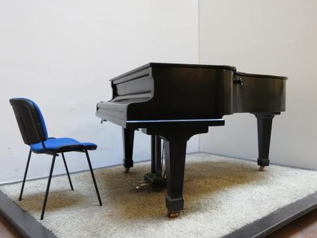parlour: Parlour or budoir grand piano string music instrument
