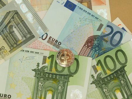legal tender: Euro (EUR) banknotes and coins from Cyprus