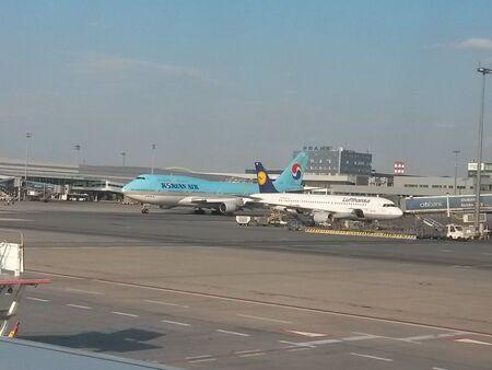 boeing 747: PRAGA, REPUBBLICA CECA - CIRCA luglio 2014: Boeing 747 Jumbo delle compagnie aeree Korean Air Editoriali