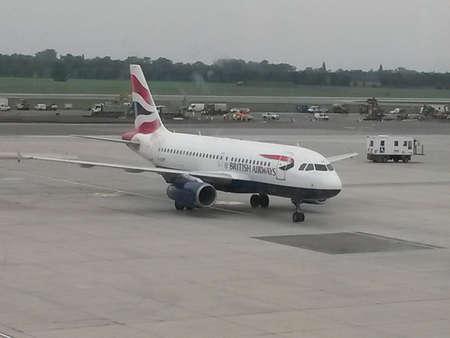 airways: VIENNA SCHWECHAT, AUSTRIA - CIRCA OCTOBER 2015: aircraft of the British Airways on the runway
