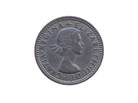 shilling: LONDON, UK - CIRCA DECEMBER 2013: two shilling coin (GBP) released in 1963 Editorial