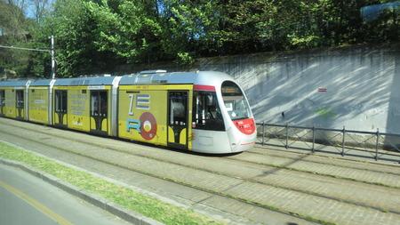 tramway: FLORENCE, ITALY - CIRCA APRIL 2016: Tramway train for public transport mass transit