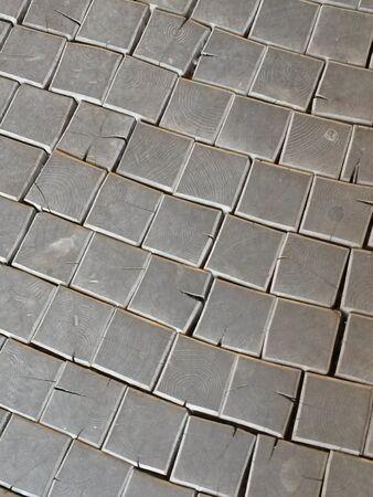 wooden block: Wooden block floor useful as a background