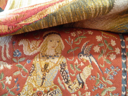 replica: Medieval embroidery - modern replica of an ancient model