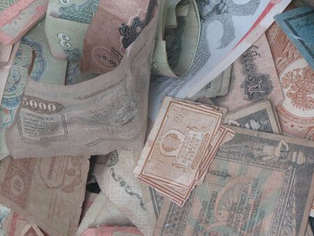 paper currency: Old paper currency from Estonia now withdrawn