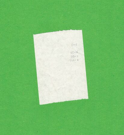 value add: Bill or receipt isolated over light green background