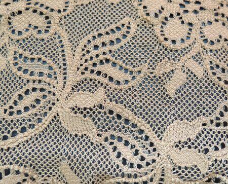 ecru: White or ecru floral lace band texture