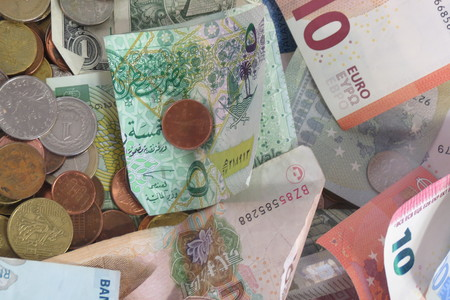 different countries: Currency from different countries all over the world Stock Photo
