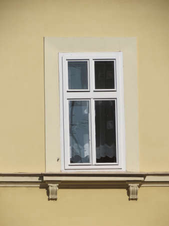 viennese: Traditional viennese house in Vienna, Austria - detail of a window