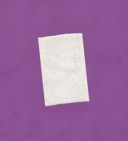 receipt: Bill or receipt isolated over violet background