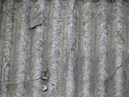 corrugated steel: Rusted corrugated steel useful as a background