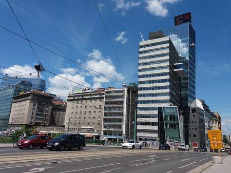 wien: WIEN, AUSTRIA - CIRCA JUNE 2016: View of the city centre