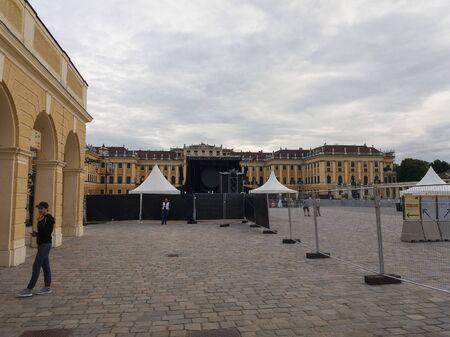 schloss schoenbrunn: WIEN, AUSTRIA - CIRCA JUNE 2016: Schloss Schoenbrunn (meaning Schoenbrunn Palace) imperial summer residence