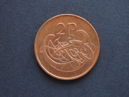 ie: Irish Pound (IEP) 2 pence coin, currency of Ireland (IE)