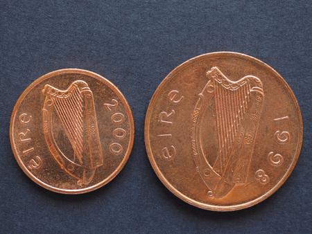 Irisches Pfund Iep 2 Pence Münze Währung Von Irland Ie