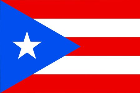 Puerto Rican flag from Puerto Rico, unincorporated terrotory of the USA - isolated vector illustration