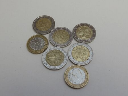 Euro coins (EUR) currency of the European Union