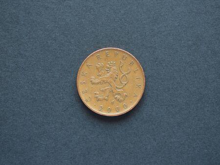 cz: 10 Czech Koruna (CZK) coin, currency of Czech Republic (CZ) Stock Photo